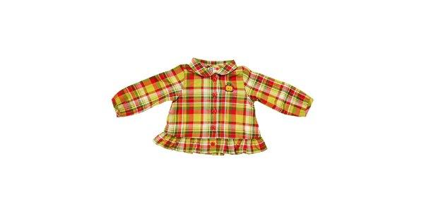 Dětská žlutá kostkovaná košile Tuc Tuc