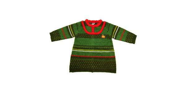 Dětský zelený svetřík Tuc Tuc s barevnými proužky
