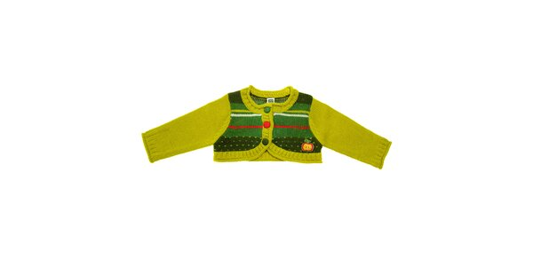 Dětské zelené bolerko Tuc Tuc s barevnými proužky