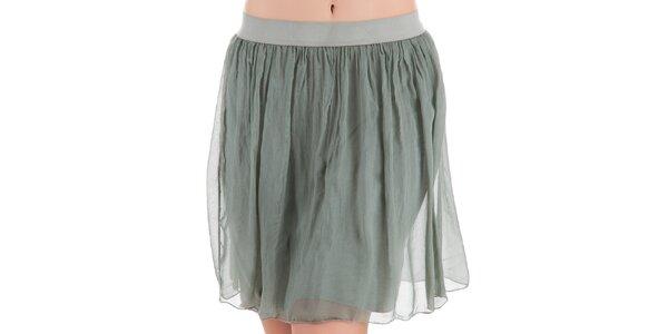 Dámská sukně ve světlé khaki barvě Keysha