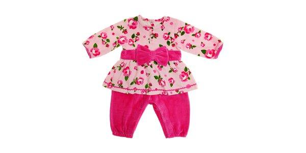 Dětské růžové šatičky s všitými kalhotkami Tuc Tuc