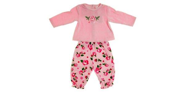 Dětský světle růžový komplet Tuc Tuc - tričko a kalhotky