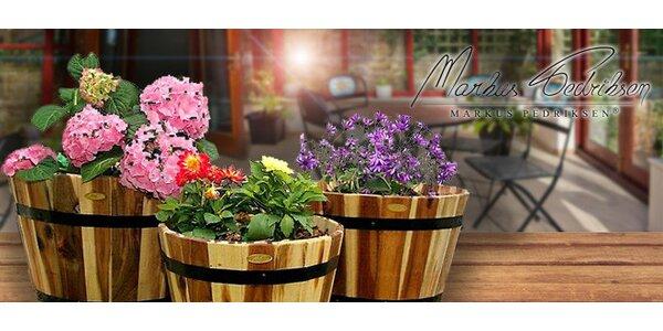 Zahradní květináče Markus Pedriksen® z akácie