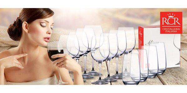 Sady luxusních křišťálových sklenic RCR