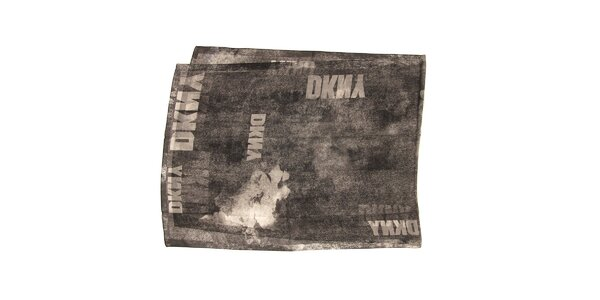 Luxusní žíhaný maxi šál v černé barvě