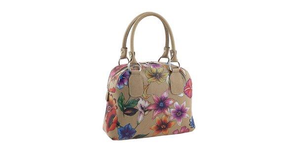 Dámská kožená kabelka s kytičkovaným potiskem Valentina Italy