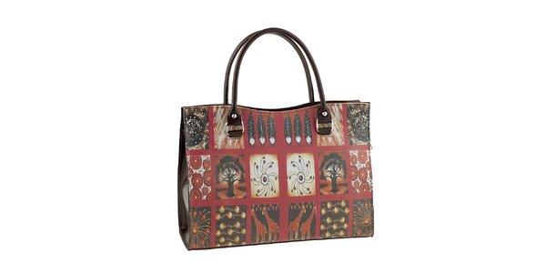 Dámská kabelka s africkým potiskem Valentina Italy