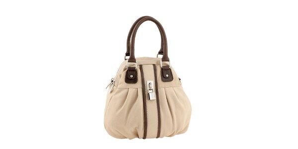 Dámská béžová kabelka s tmavými detaily Valentina Italy
