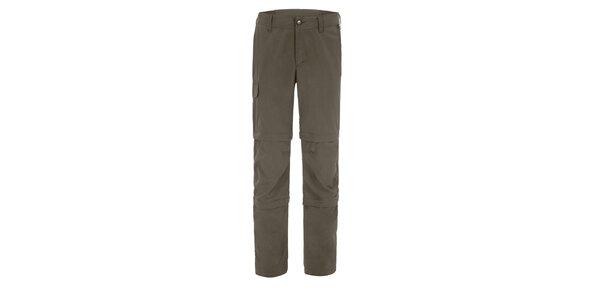 Pánské khaki kalhoty Maier s odepínatelnými zipy