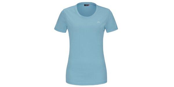 Dámské světle modré funkční tričko s krátkým rukávem Maier