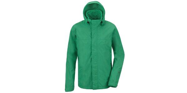 Pánská zelená funkční bunda s kapucí Maier
