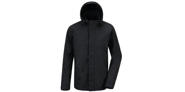 Pánská černá funkční bunda s kapucí Maier
