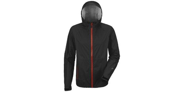 Pánská černá bunda s červeným zipem Maier