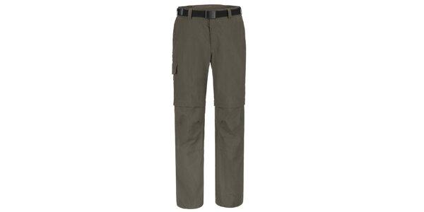 Pánské šedohnědé funkční kalhoty Maier