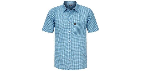 Pánská modrá kostkovaná košile Maier