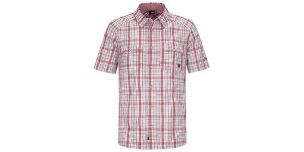 Pánská červeno-bílá kostkovaná košile s krátkým rukávem Maier