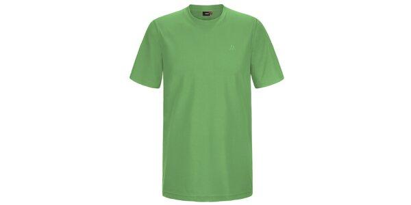 Pánské světle zelené funkční tričko s krátkým rukávem Maier