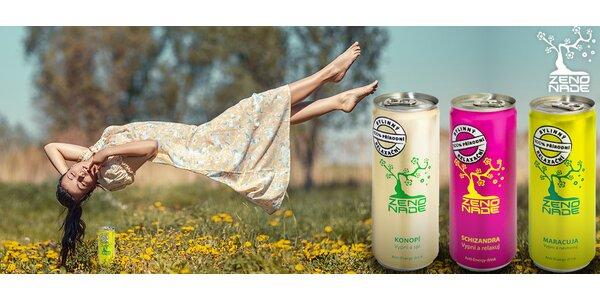 100% přírodní relaxační nápoje Zenonade (9 plechovek)