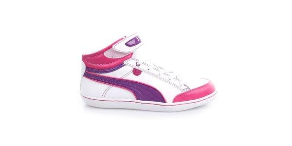 Dámské bílo-růžovo-fialové kotníčkové boty Puma