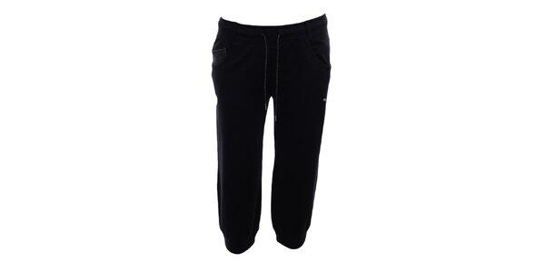 Dámské černé 3/4 sportovní kalhoty Puma