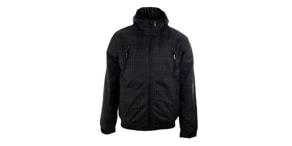 Pánská černá městská bunda s bílým vzorkem Authority