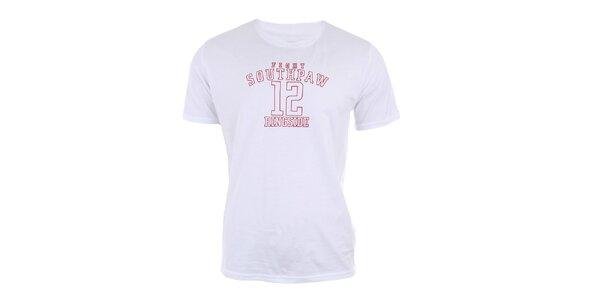 Pánské bílé bavlněné tričko s potiskem Big Star