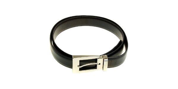 Pánský černo-hnědý oboustranný kožený pásek Ferré Milano
