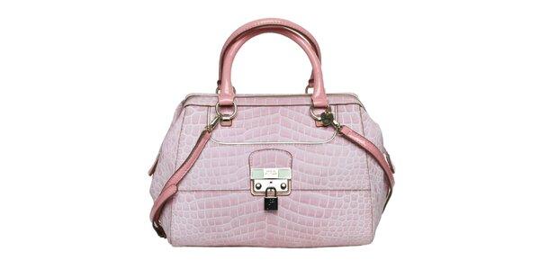Dámská růžová kabelka se zámečkem Guess
