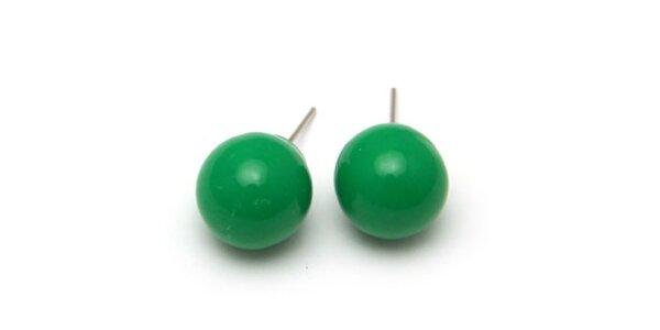 Dámské zelené kulaté náušnice Bubbles