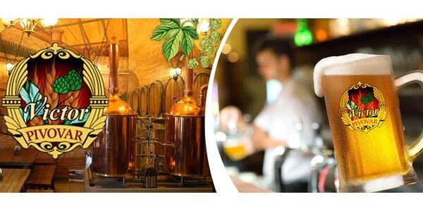 Žebra, piva i prohlídka pivovaru Victor na Žižkově