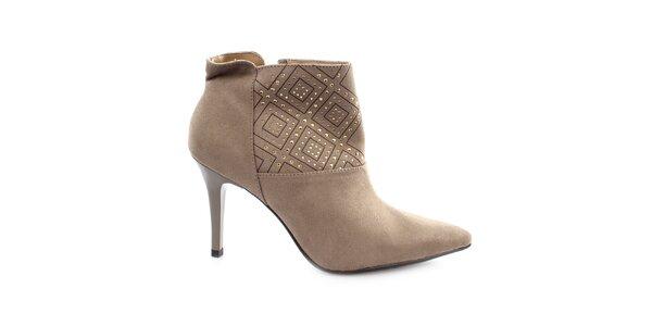 Dámské boty na jehlovém podpatku s cvočky Vizzano