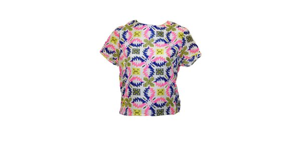 Dámské tričko s barevným vzorem Madam rage