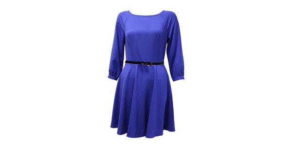 Dámské modré šaty s 3/4 rukávem Madam Rage