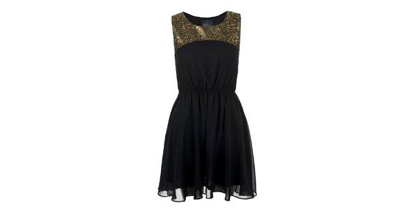 Dámské šaty s lesklým detailem Madam rage
