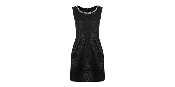Dámské černé šaty bez rukávů Madam rage