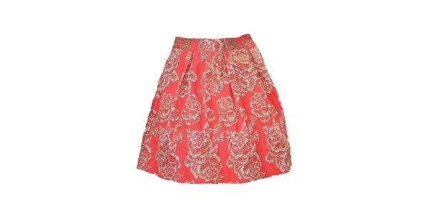 Dámská korálová sukně s květy Madam rage