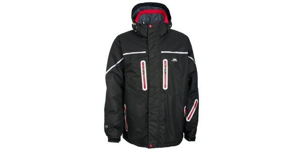 Pánská černá bunda s červenými zipy Trespass
