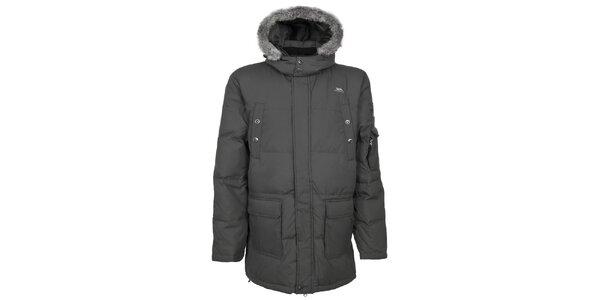 Pánská tmavě šedá zimní bunda Trespass