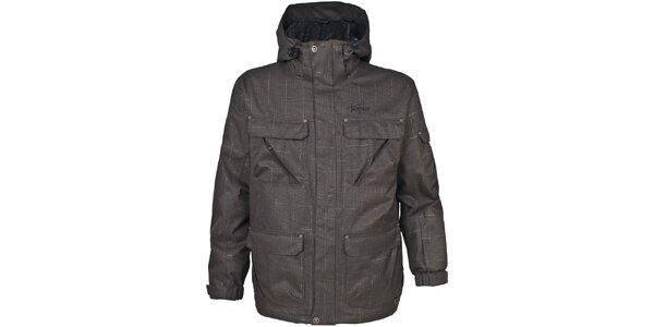 Pánská tmavě hnědá bunda s kapsami Trespass