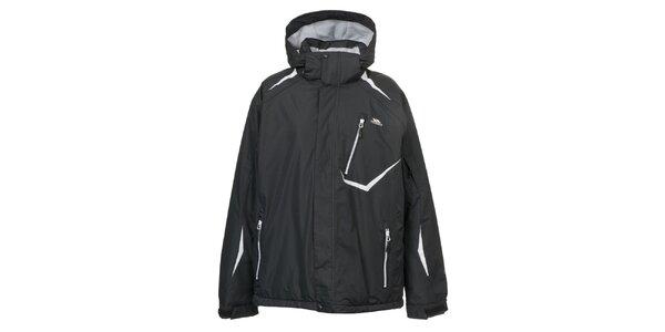 Pánská černá bunda s bílými prvky Trespass