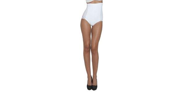 Dámské bílé stahovací kalhotky My Shapes s vysokým pasem