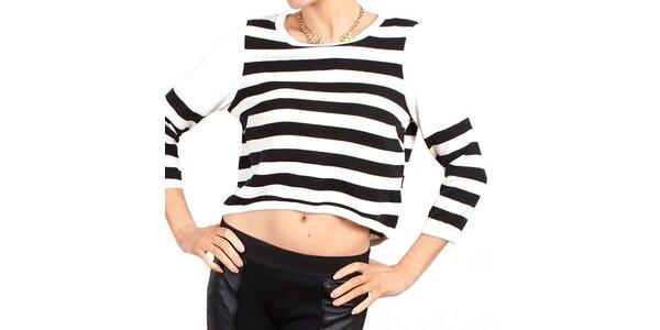Dámské pruhované tričko se zipem Madam rage