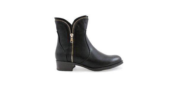 Dámské černé boty se zipy Ctogo GOGO