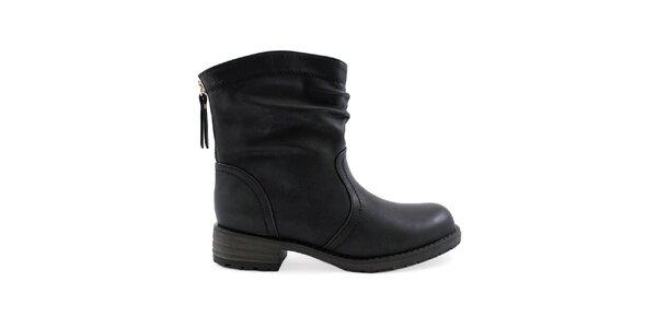 Dámské černé boty se zipem Colorful