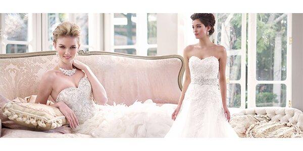 Sleva 40 % na zapůjčení nádherných svatebních šatů