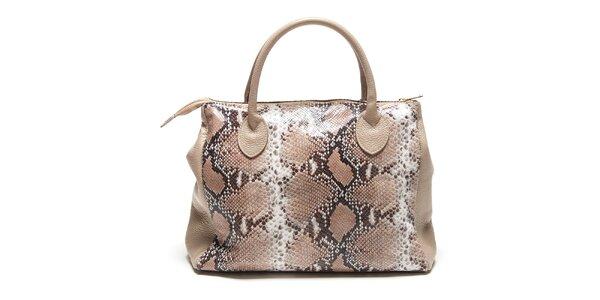 Dámská béžová kabelka s hadím vzorem Renata Corsi