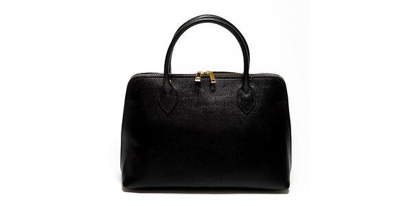 Dámská černá kabelka z kvalitní kůže Renata Corsi