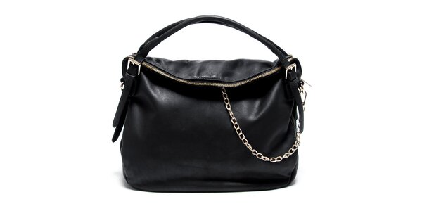 Dámská kožená černá kabelka Renata Corsi