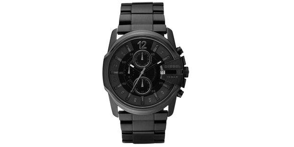Pánské černé ocelové hodinky Diesel