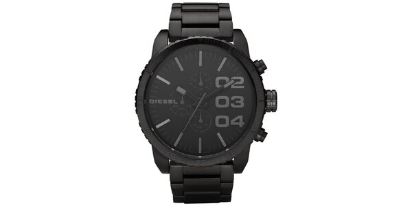 Pánské černé analogové ocelové hodinky Diesel